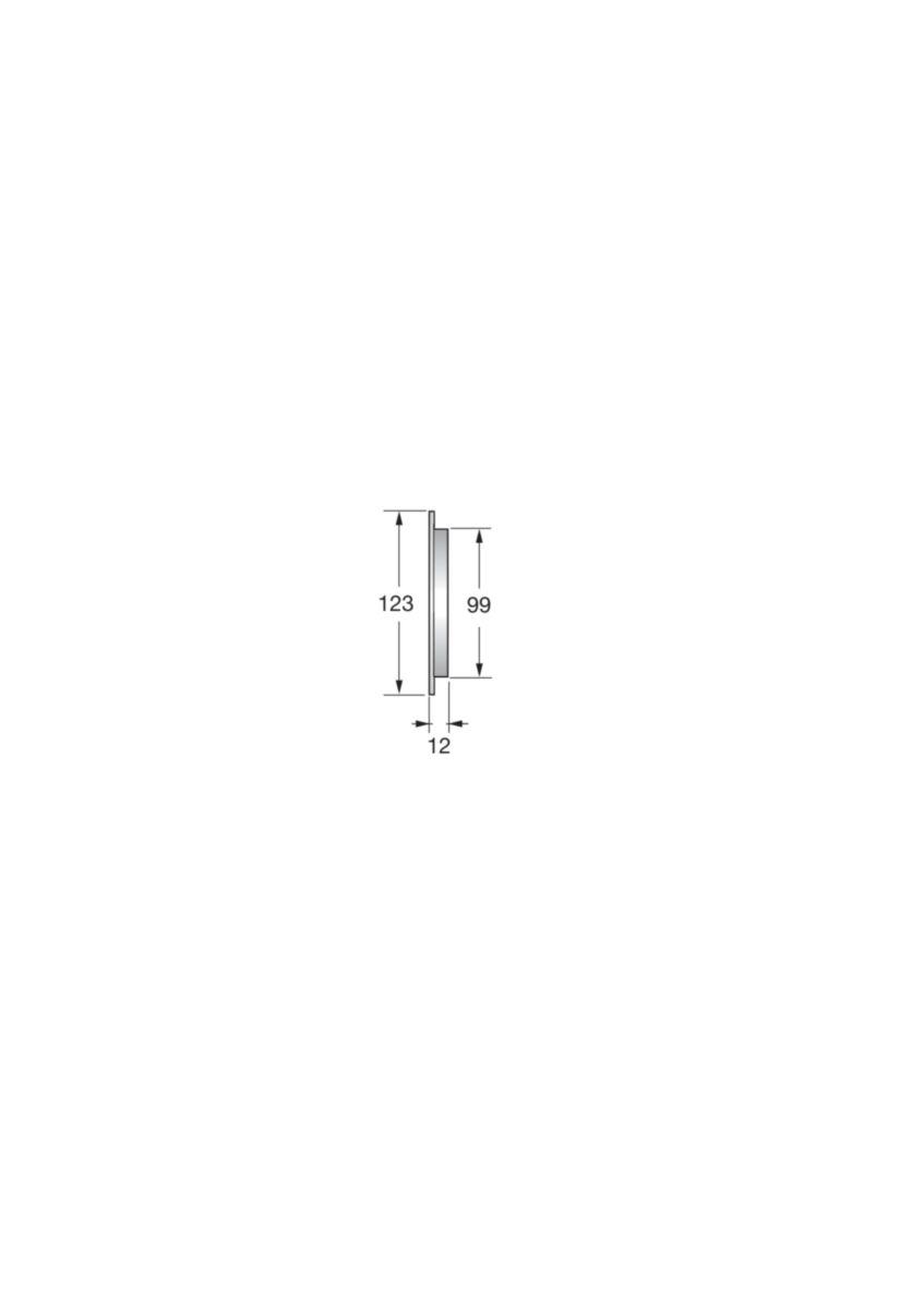 Grille d'aération pour tube fibres-ciment - BC100 - polystyrène blanc - Ø 123/99 mm - ép. 12 mm - tube Ø 100 mm