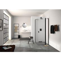 Paroi de douche pivotante avec segment fixe DESIGN PURE