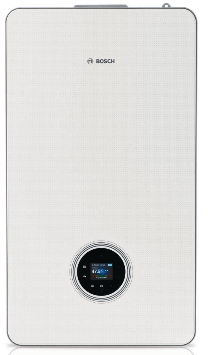 Chaudière murale gaz à condensation avec ECS Condens 8700i W 30-35kW blanche classe énergétique A/A Réf 7738100761