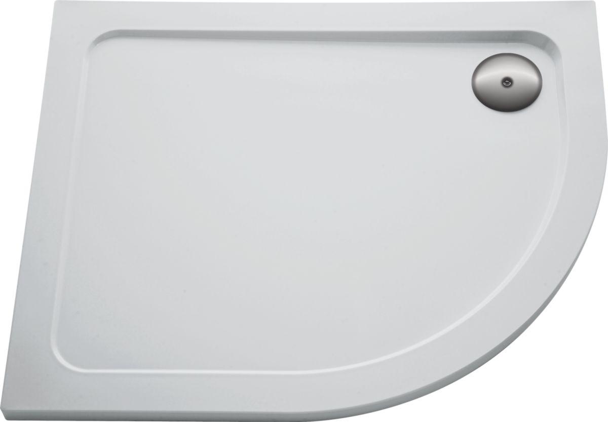 Receveur FLIGHT 1/4 de rond, extra-plat 80 x 80 x 4 cm, blanc Réf. E62443-00
