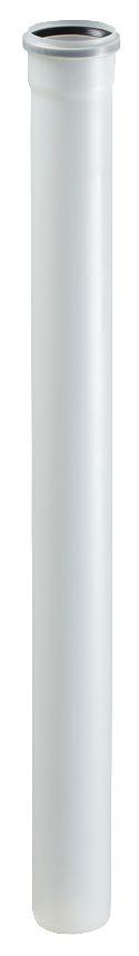 Elément droit 100 cm DUALIS FLEXCONDENS pour chaudières gaz ou fioul diamètre 80 réf. 27080505