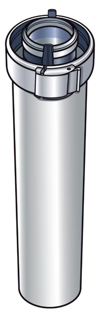 Conduit de fumée concentrique système emboîtement aluminium et PVC diamètre 60 / 100 de longueur 2000 mm réf. 227353
