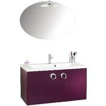 meuble sous vasque seducta 90 cm 2 portes aubergine alterna sanitaire cedeo. Black Bedroom Furniture Sets. Home Design Ideas