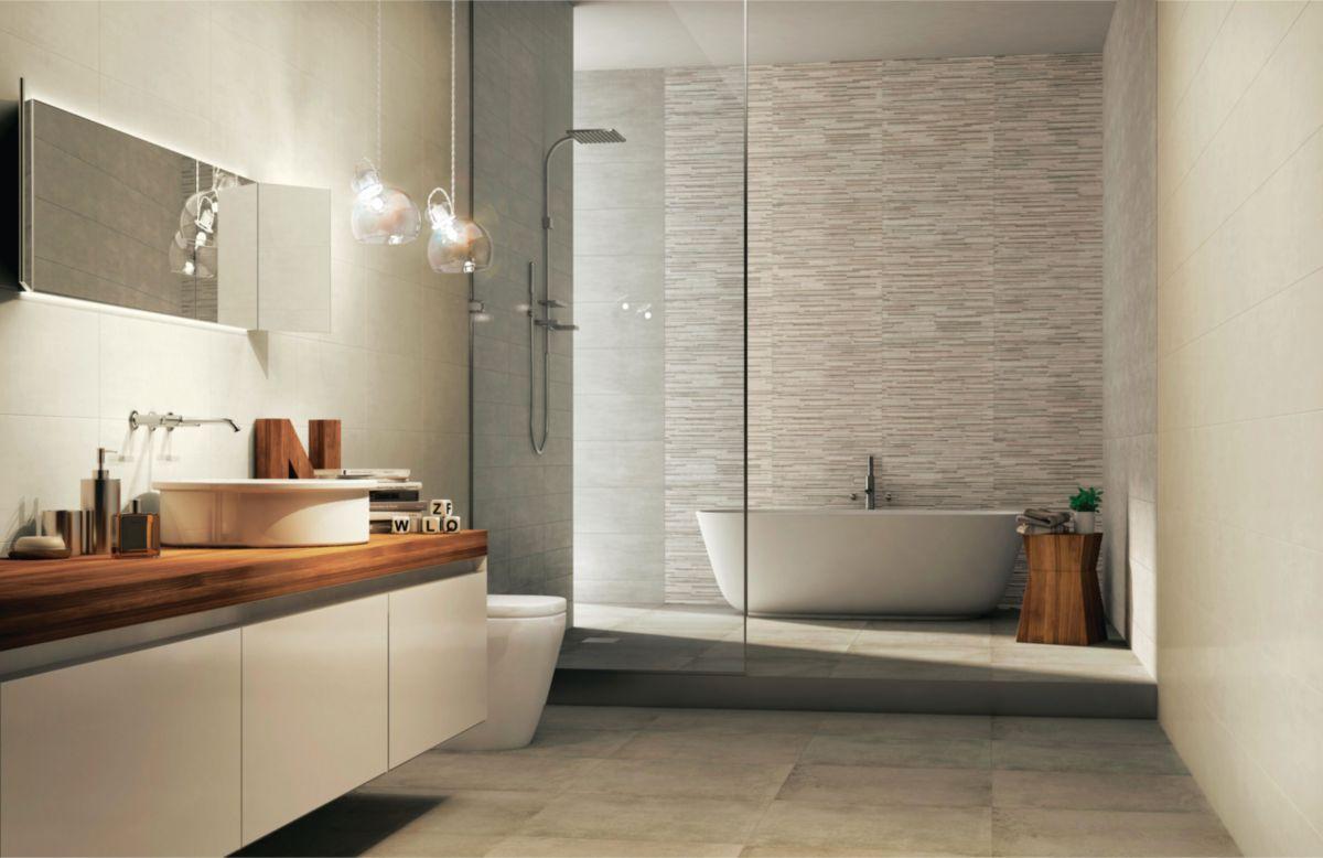 carrelage mural int rieur d cor start concrete 3d 26x60 5 cm envie de salle de bain. Black Bedroom Furniture Sets. Home Design Ideas