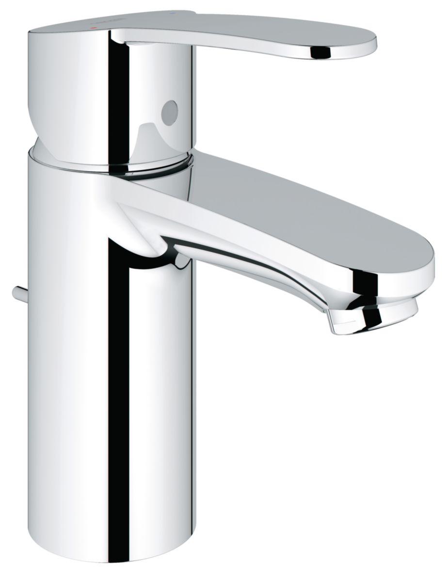 Mitigeur de lavabo EUROSTYLE COSMOPOLITAN, monocommande 15 x 21, monotrou sur plage, levier de commande métallique, chromé réf. 3355220E