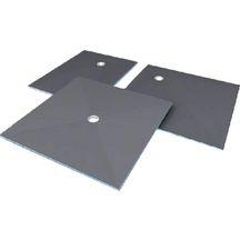 receveur de douche de plain pied coulement centr carreler wedi fundo ligno 900x900 mm. Black Bedroom Furniture Sets. Home Design Ideas