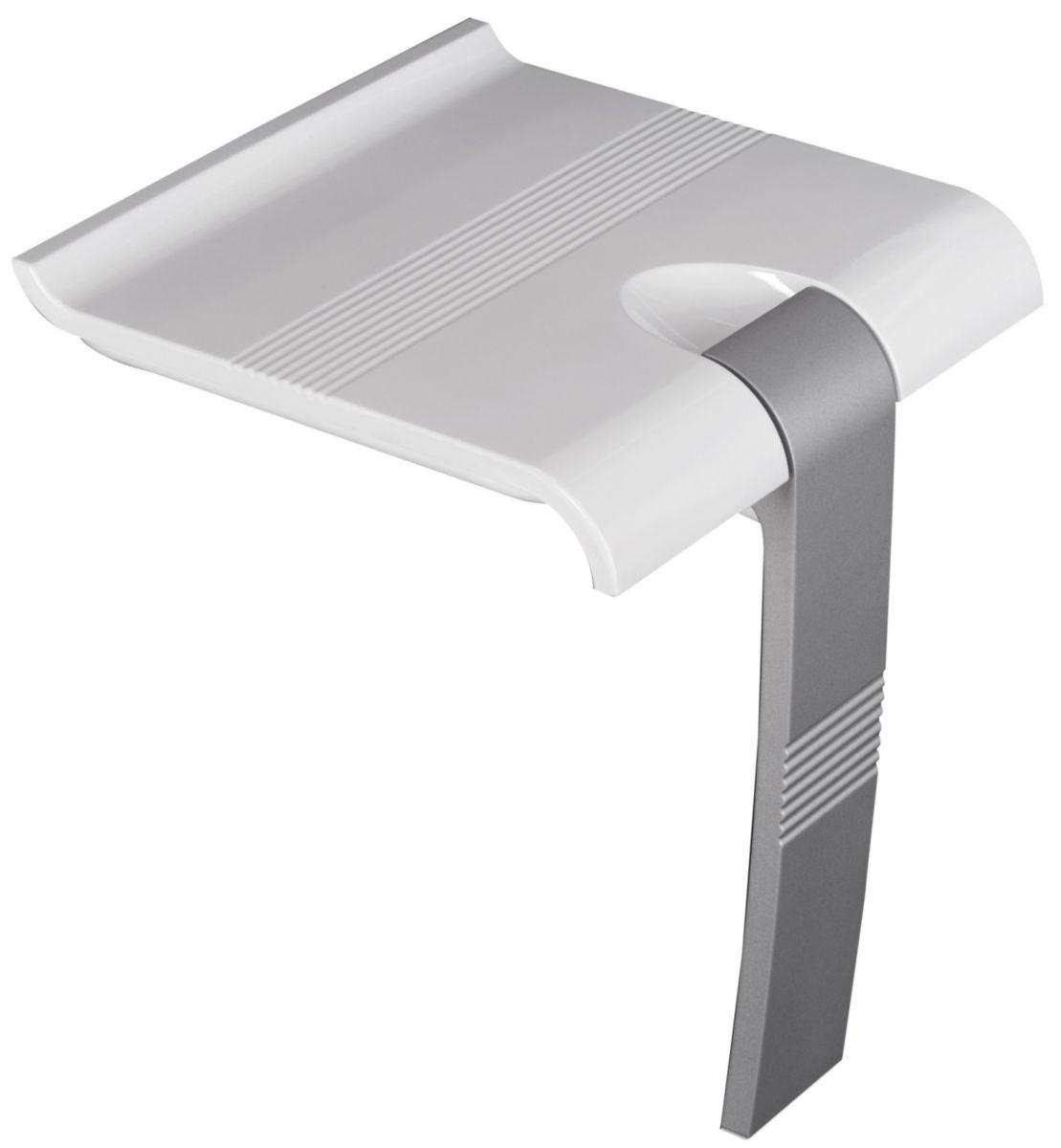 Siège de douche ARSIS escamotable Blanc & Gris mat Réf. 047731