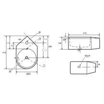 lave mains design d 39 angle 41 5x26 5 alterna sanitaire cedeo. Black Bedroom Furniture Sets. Home Design Ideas