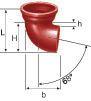Coude SME 68° fonte diamètre nominal 100mm Réf. 156002 PAM
