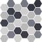 Mosaique hexagone 5x0,5cm mix gris 28,1x29,5cm CEMI05