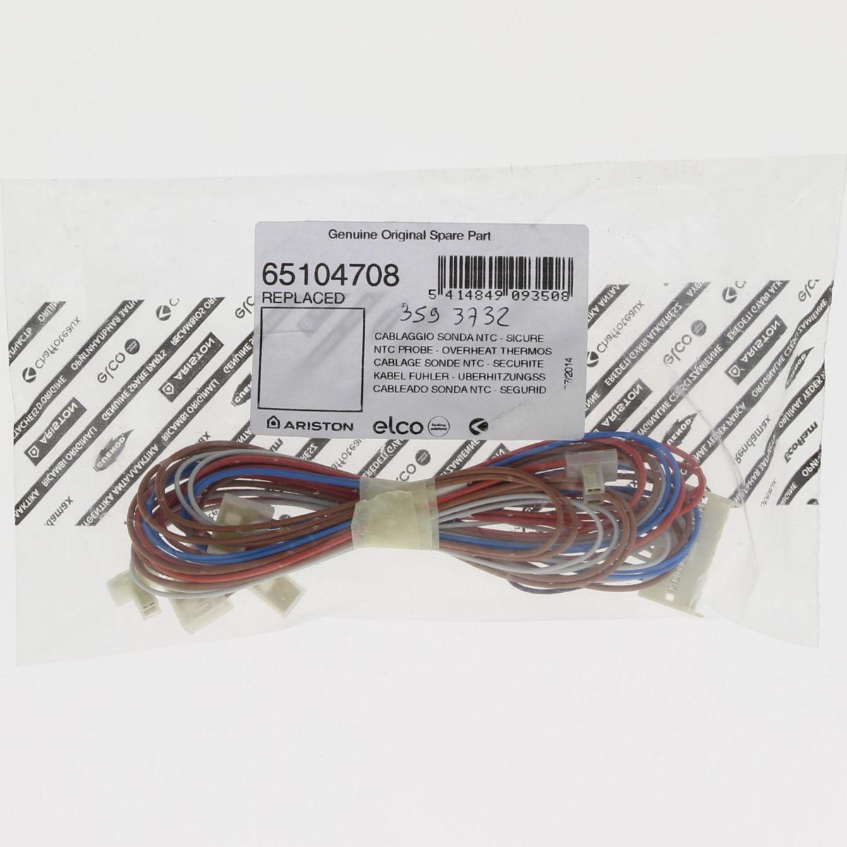 Cablage sonde NTC-sécurité thermique ALIXIA Réf. 65104708
