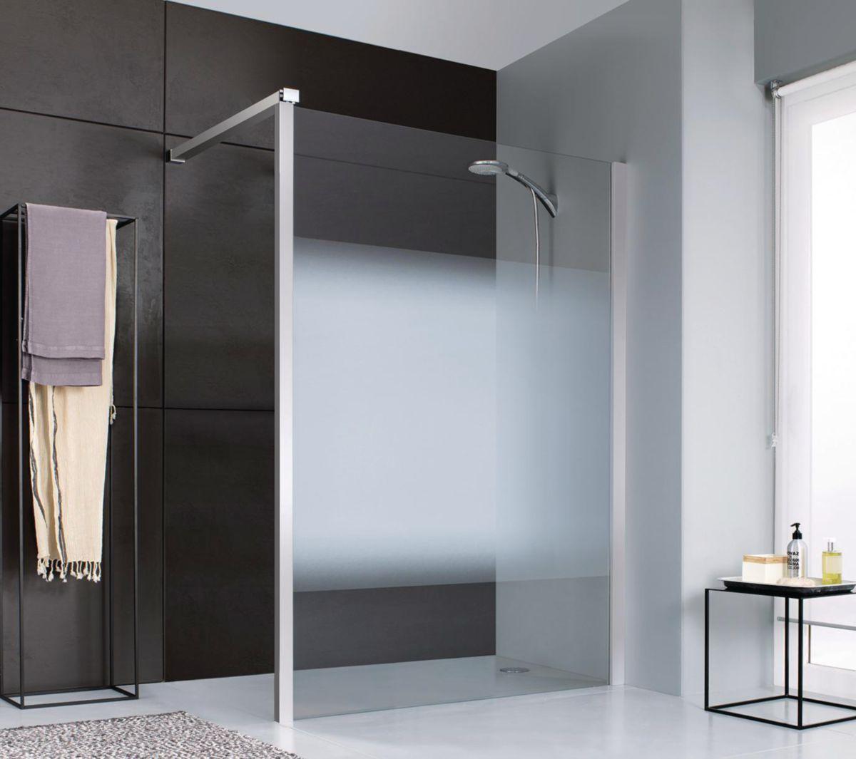 paroi de douche fixe 140 porte coulissante paroi fixe x cm with paroi de douche fixe 140. Black Bedroom Furniture Sets. Home Design Ideas