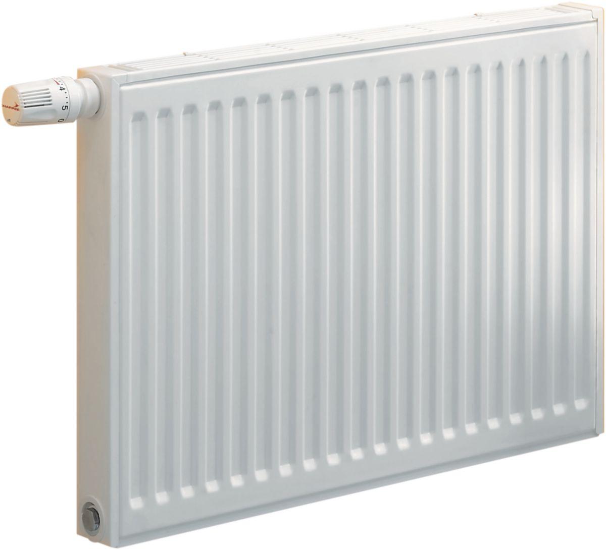 Radiateur panneau SAMBA gamme horizontale 4 orifices type 22 habillé acier hauteur 600 mm longueur 1700 mm 51 éléments 2800 watts réf. CC235