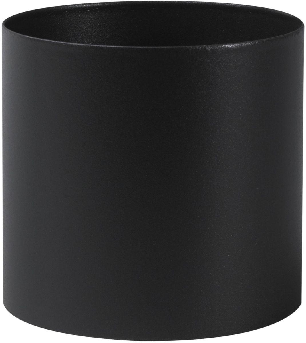 Tuyau rigide email noir raccord noir mat 12 cm d 153 réf. 344126