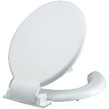 Abattant anti-contact double, blanc R�f 40450115