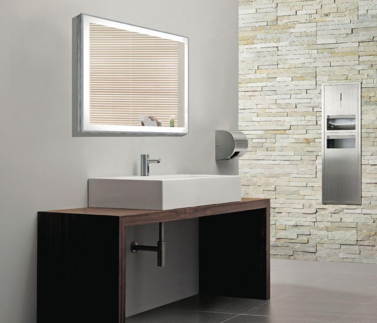 miroir r tro clair naos l 70 cm envie de salle de bain. Black Bedroom Furniture Sets. Home Design Ideas