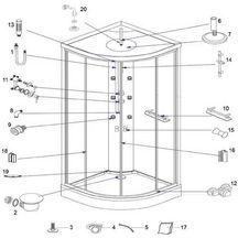 douches pi ces de rechange sanitaire pi ces de rechange brossette. Black Bedroom Furniture Sets. Home Design Ideas