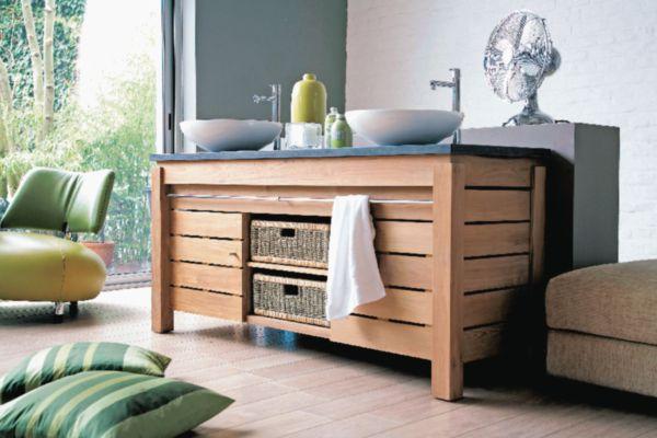 Meuble salle de bain ORIGIN en teck 101 cm