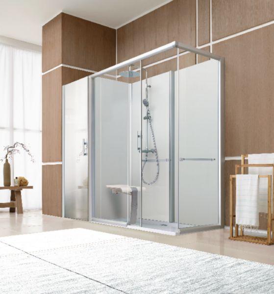 Remplacement de baignoire BIEN-ÊTRE avantage accès de face coulissant