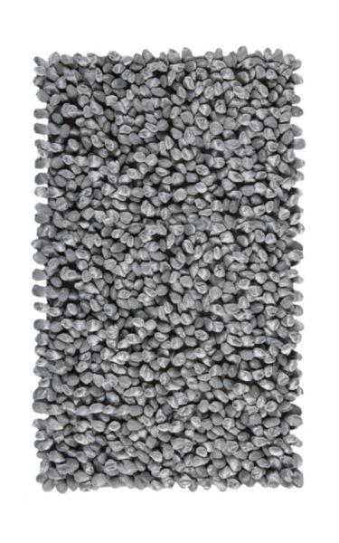 Tapis de bain ROCCA 60x100cm gris argenté