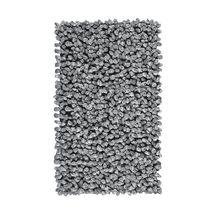 Tapis de bain ROCCA gris argenté