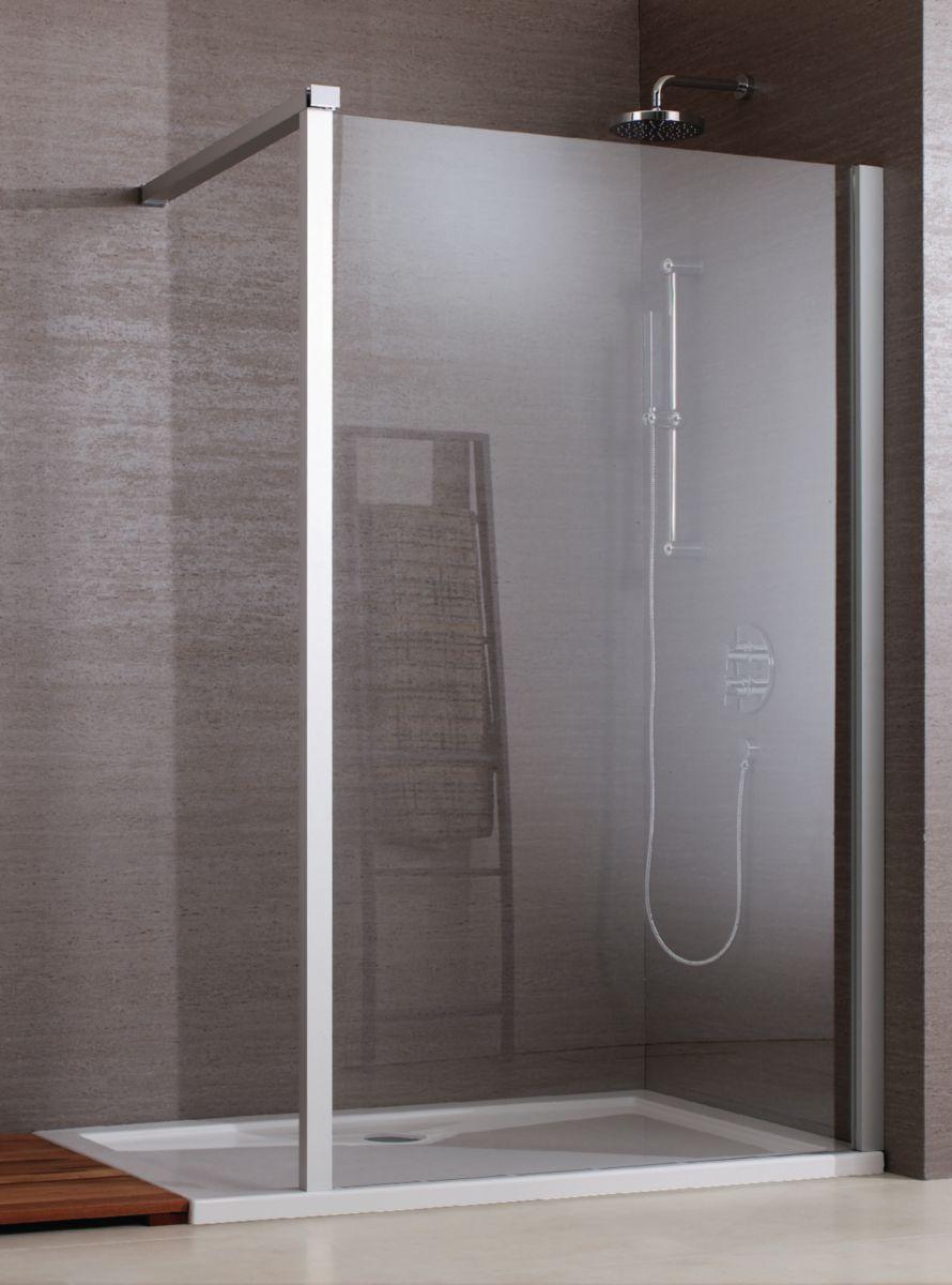 Croissant LEDA - Paroi de douche fixe réversible JAZZ, pour receveurs de HG-94