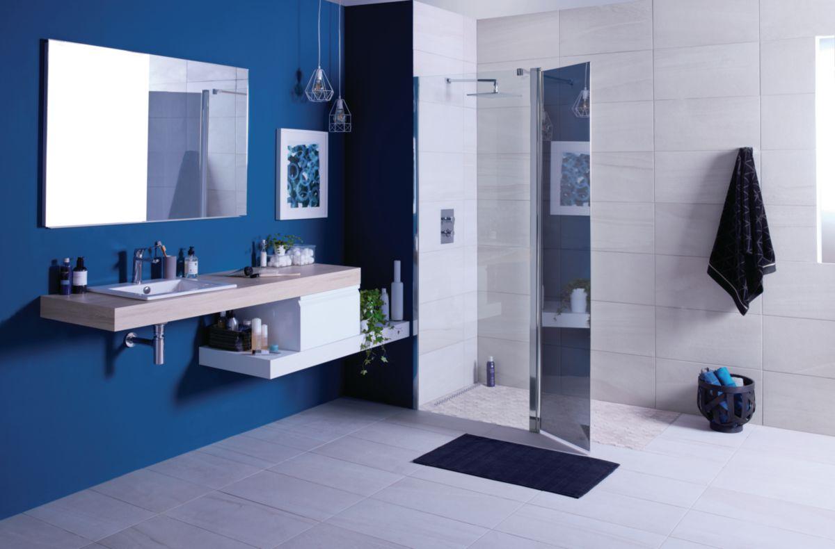 Plan De Toilette Hydrofuge composition salle de bain zao chêne/blanc 180 cm | envie de