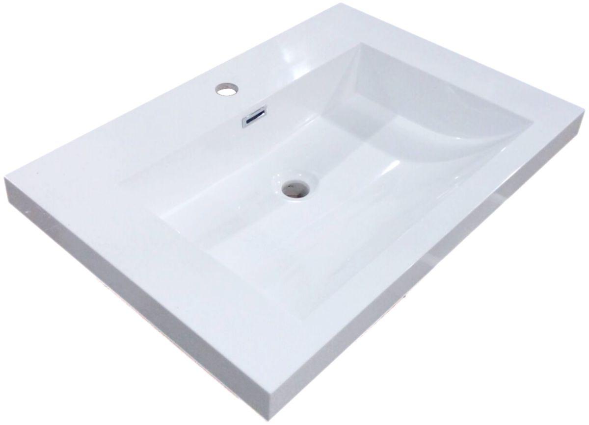 vasque avec trop plein int gr Plan de synthèse Primeo cuve carrée avec trop plein intégré 70 cm ...