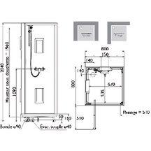 cabine de douche izibox carr e 80x80cm installation en angle ou encastr e quipement confort. Black Bedroom Furniture Sets. Home Design Ideas
