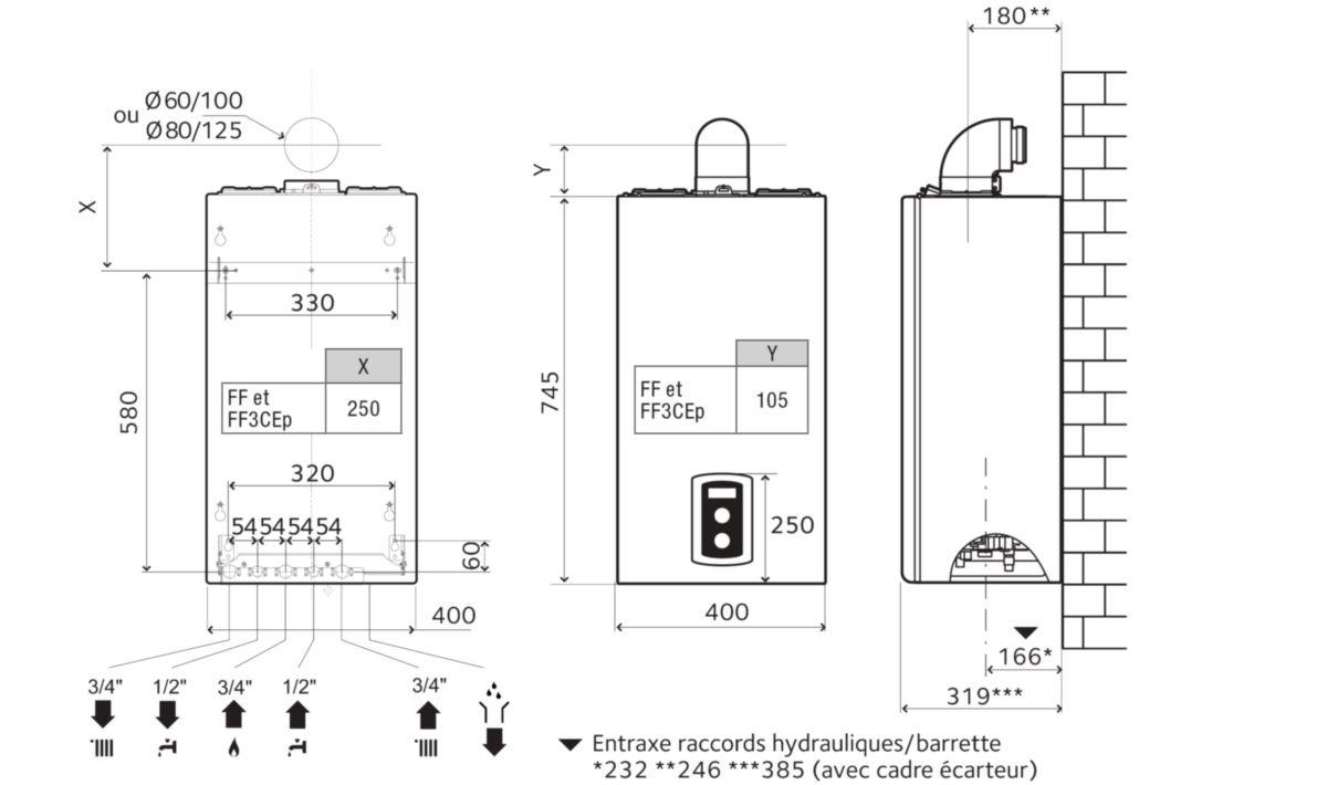 chaffoteaux chaudi re murale gaz condensation ecs mira. Black Bedroom Furniture Sets. Home Design Ideas