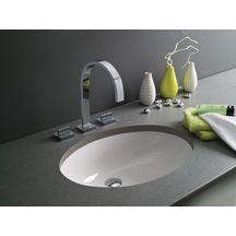 vasque 224 encastrer par le dessous avec trop plein toba lg 57cm c 233 ramique blanc alterna