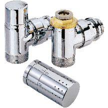 Robinetterie de radiateur radiateurs chauffage et - Robinet thermostatique equerre inversee ...