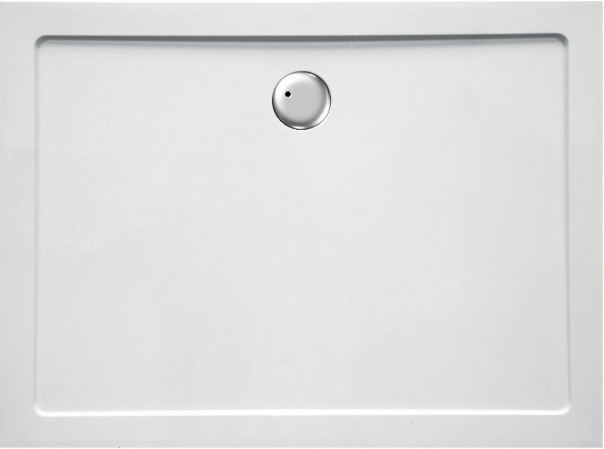 Receveur synth se pl nitude 120x80 cm blanc envie de salle de bain - Receveur beton de synthese ...