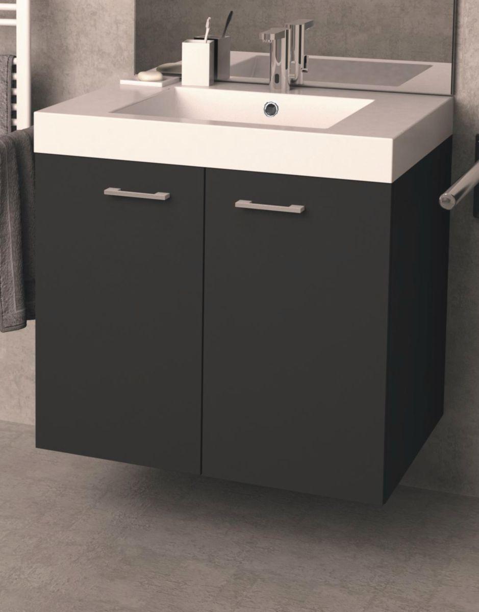 neova meuble sous vasque serenite l70 cm 2 tiroirs. Black Bedroom Furniture Sets. Home Design Ideas