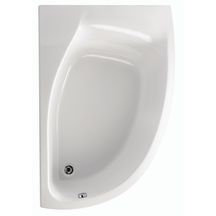 Baignoire asymétrique droite PLENITUDE 150x100cm blanc Acrylique