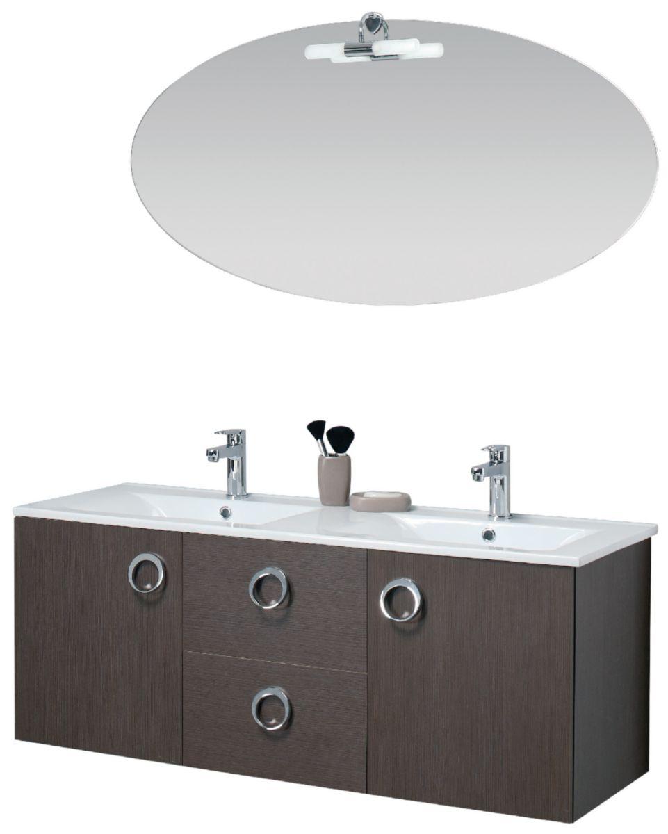 alterna meuble sous vasque seducta 120 cm 2 portes 2 tiroirs natural caf cedeo. Black Bedroom Furniture Sets. Home Design Ideas