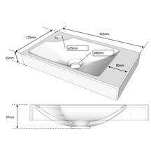 ensemble piccolo lave main en c ramique meuble blanc alterna sanitaire cedeo. Black Bedroom Furniture Sets. Home Design Ideas