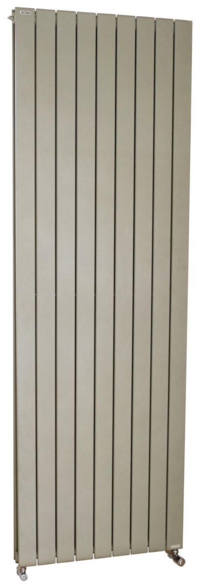 Radiateur FASSANE eau chaude vertical double 1125 w haut 2000 largeur 370 5 éléments blanc réf. HXD-200-037