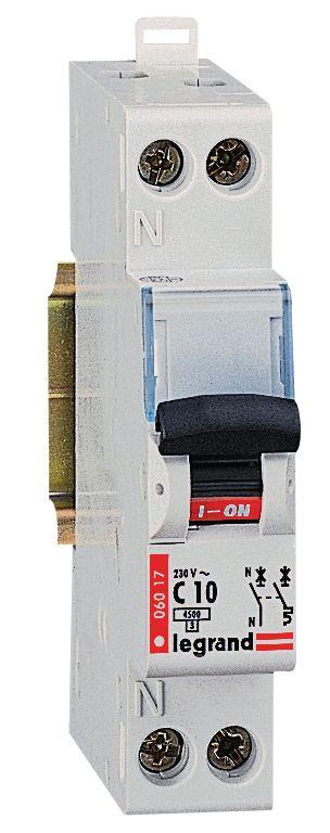 Disjoncteur divisionnaire 1 PH + N - 16 A
