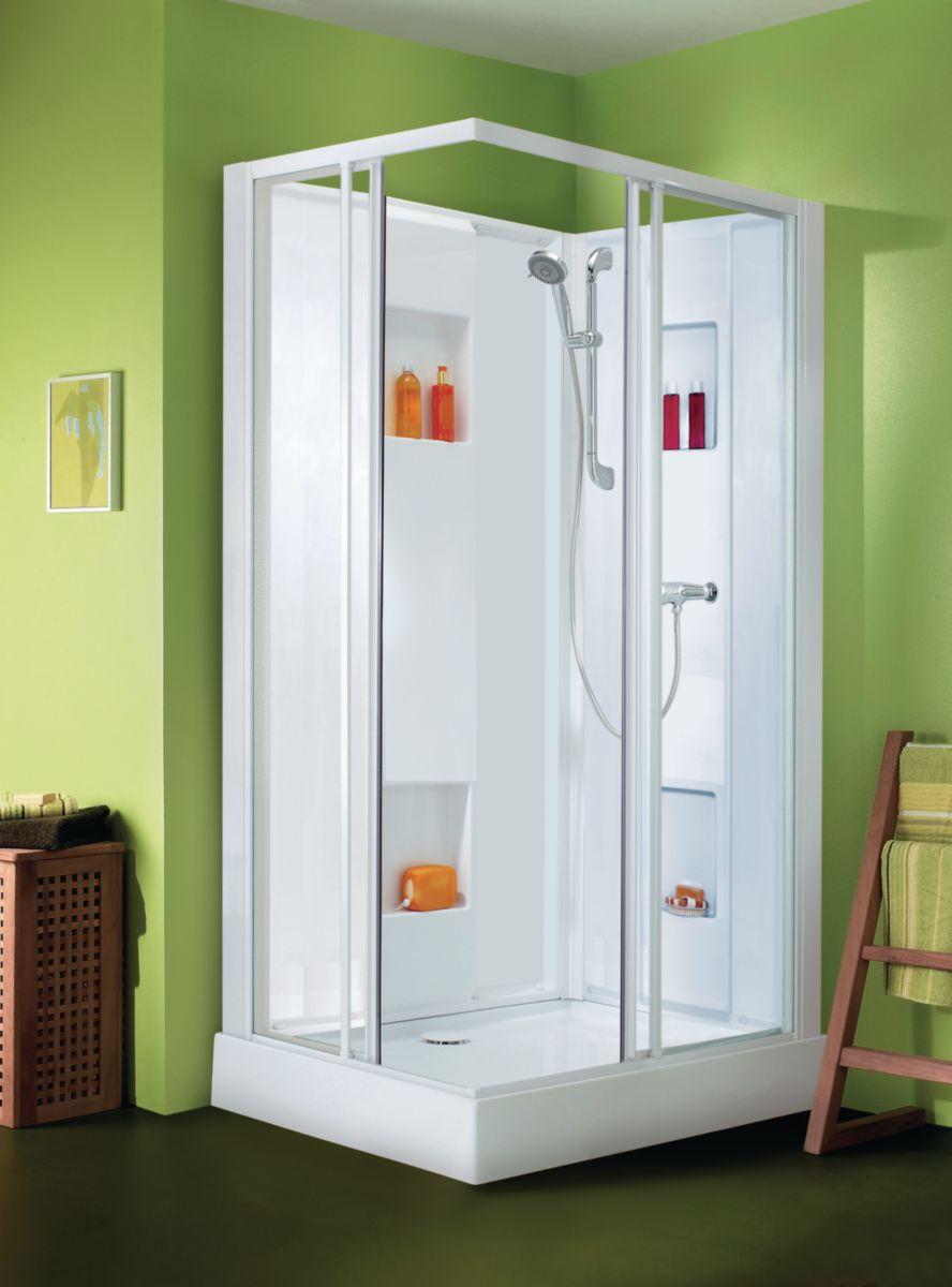 leda cabine de douche izibox rectangle 120x70cm. Black Bedroom Furniture Sets. Home Design Ideas
