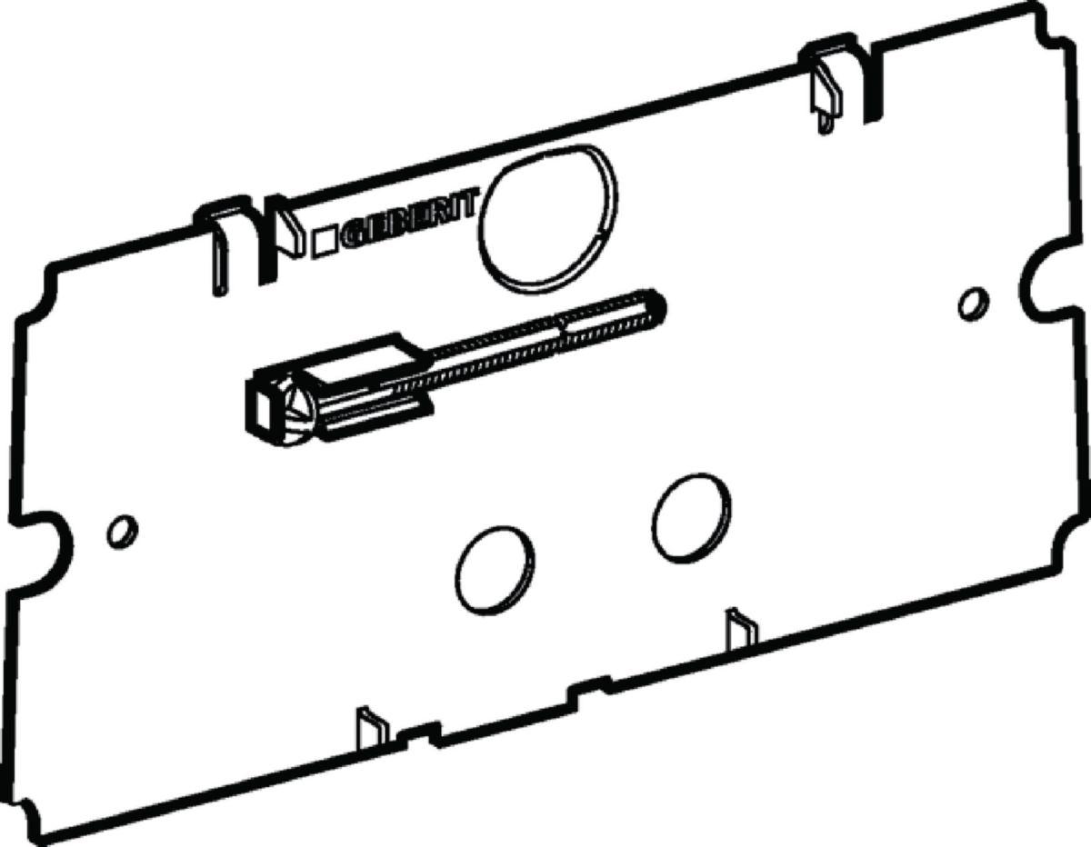 Contre plaque pour réservoir encastrés réf. 240512001