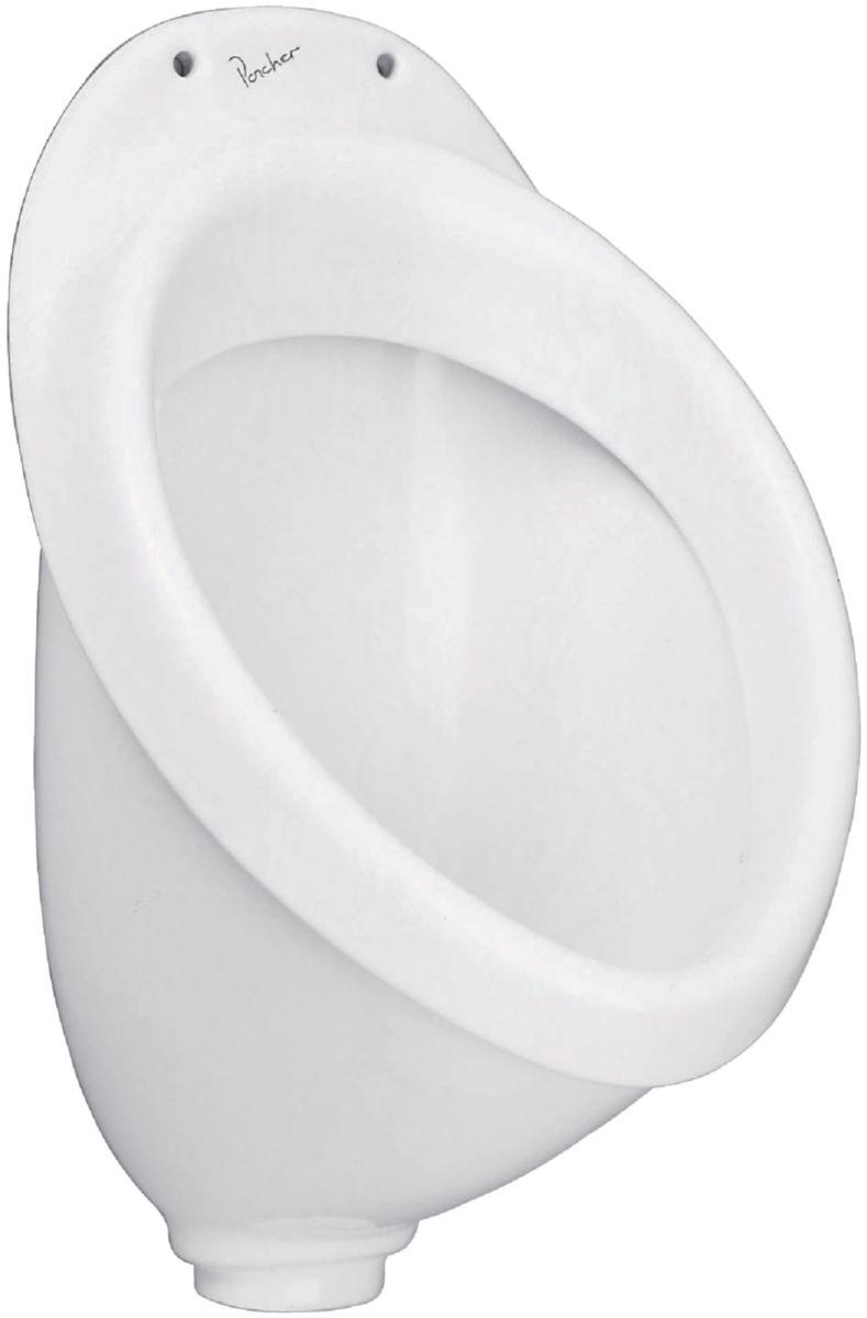 urinoir de face applique céramique blanc réf. p264101 - porcher