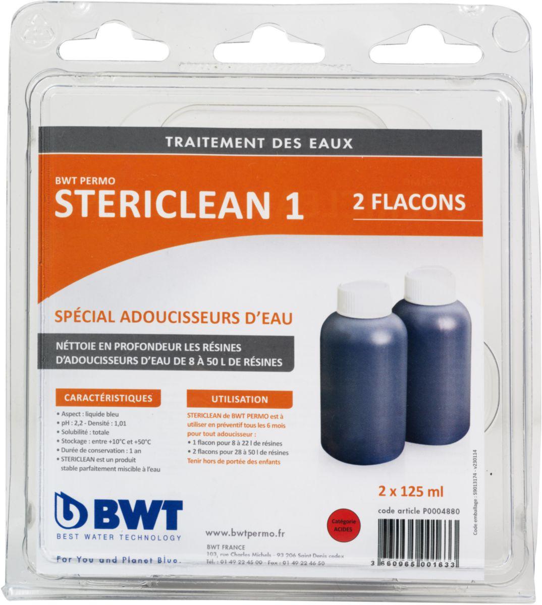 Nettoyeur de résines adoucisseur STERICLEAN 1 2x150 ml réf. P0004880