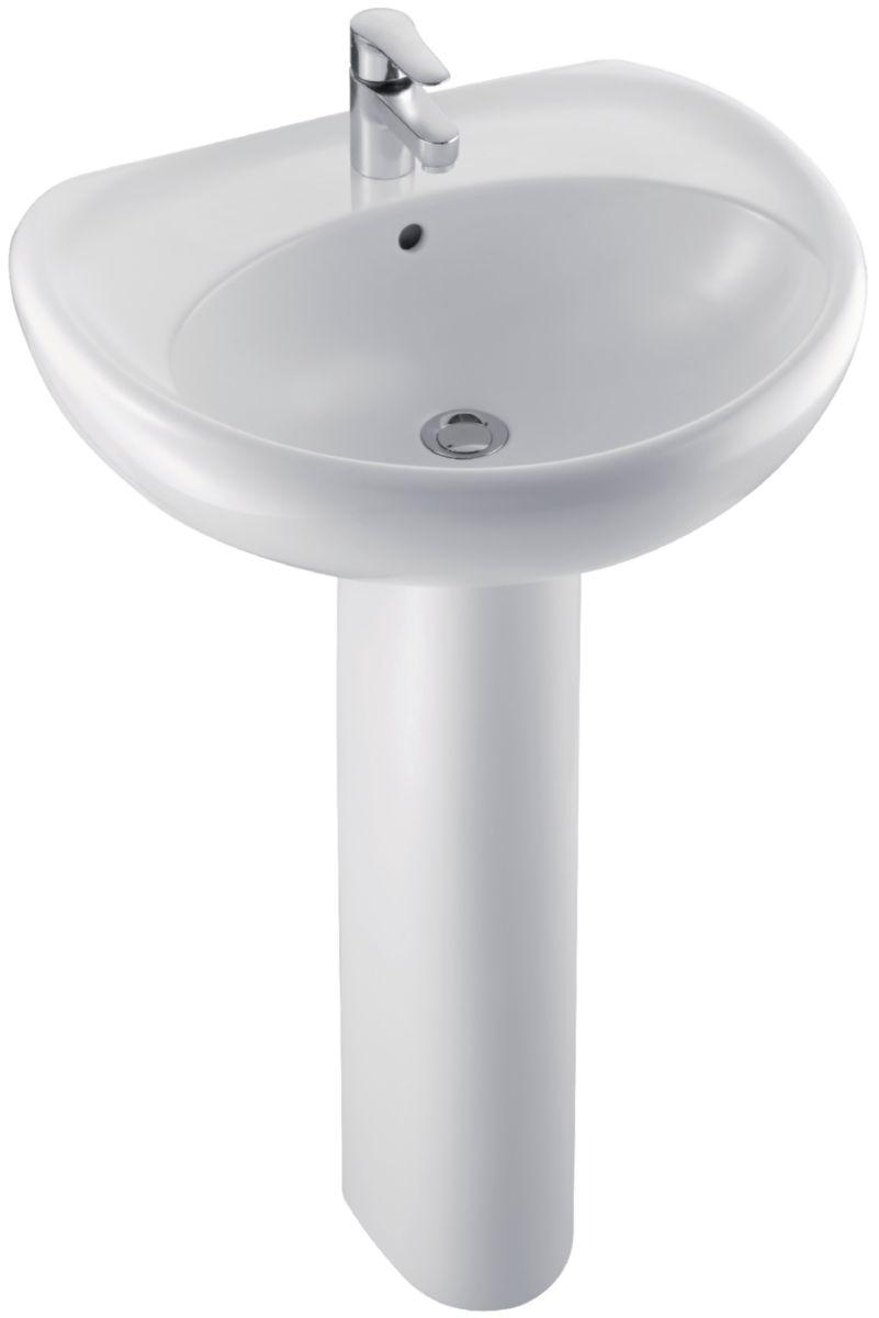 jacob delafon lavabo Colonne MIDEO pour lavabo E4330-15534K, E4331-15535K, E4333-15536K, ...