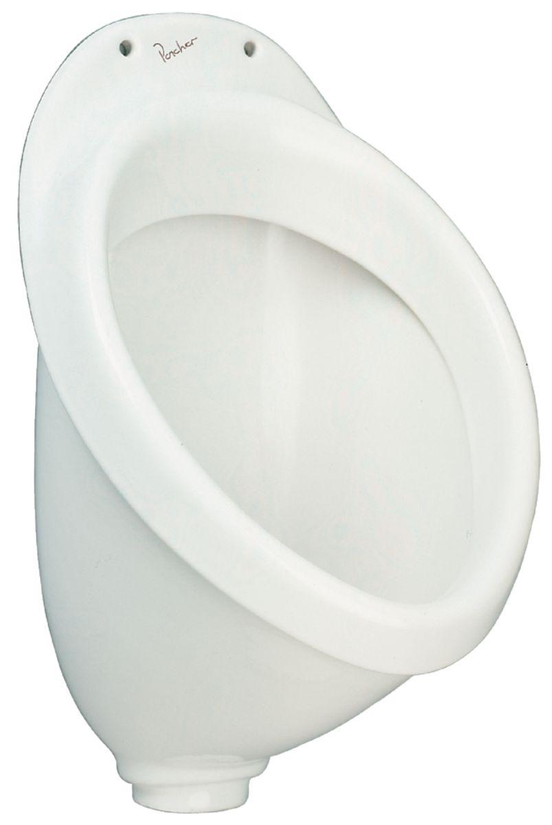 Pack urinoir prêt à poser, alimentation apparente droite APPLIQUE Lg : 48 cm blanc Réf. P986201