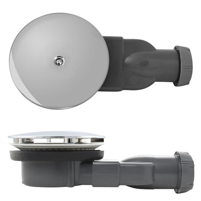 siphon slim pour receveurs extra plat d90 abs chrom r f 30719686 wirquin. Black Bedroom Furniture Sets. Home Design Ideas
