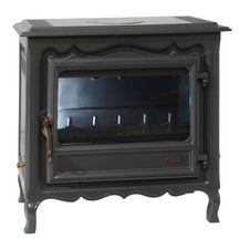 Po�le � bois b�ches REGENCE anthracite 6,5kW R�f 3144