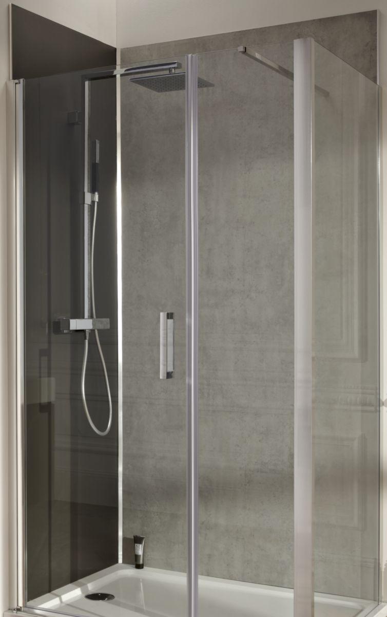 jacob delafon panneau mural panolux pierre marbre gris 7 8x1200x2350mm r f e63000 d27 cedeo. Black Bedroom Furniture Sets. Home Design Ideas