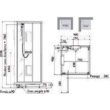 Cabine de douche izibox carr e 90x90cm installation en angle ou encastr e - Installation mitigeur douche ...
