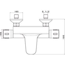 b48ab7fcf5c11 ALTERNA - Mitigeur thermostatique bain douche Conc | Brossette